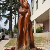 Scultura donata al Comune di San Canzian d'Isonzo